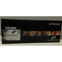 Toner Lexmark 34018hl Original Lacrado E330/332/340/342