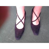 Zapatos En Gamuza Pascualini Nro. 37 Impecables!!!!