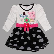 Vestido Manga Longa Peppa Pig - Importado - Vários Tamanhos