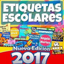 Etiquetas Escolares Personalizadas Editables 5 Gb Kit 2017