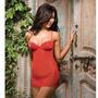 Baby Doll Rojo Mujer Dreamgirl Lycra Net Chemisse Studded