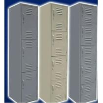 Locker Casillero Metalico 4 Puertas Cal 24 Reforzado