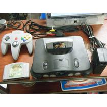 Nintendo 64 + 1 Control + 2 Juegos Funcionndo