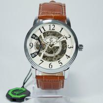 Relógio Masculino Social Ecotime Original Automatico Couro