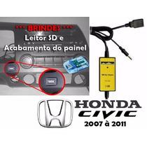 Adaptador Interface Usb Aux Para Honda New Civic 2007 À 2011