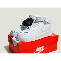 Tênis Nike Air Force Grátis Relógio G-shock Brinde