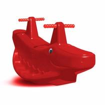 Gangorra Cavalinho (jacaré) Vermelho Vermelha 02 Lugares