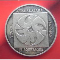 Medalla México Guadalajara Fiestas Octubre 25 Años Plata