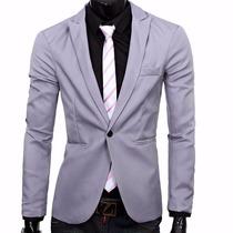 Blazer Slim Fit Masculino Casual A Pronta Entrega 5 Cores