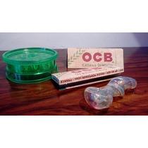 Paquete De Sabanas Ocb + Grinder De Acrilico+ Pipa Onix