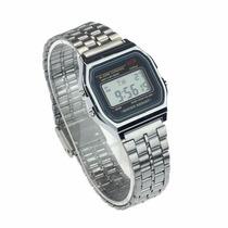 Relógio Wr Digital Pulseira Aço -alarme - Prata