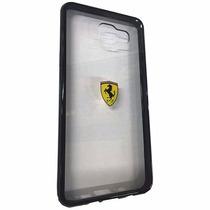 Funda Galaxy S7 Edge Ferrari Transparente Orilla Negra