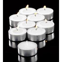Velas Tea Light 50 Pzas Blancas Flotantes Sin Aroma