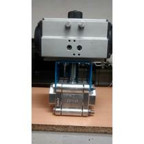 Valvula Esfera Worcester Con Actuador Neumático 2 Inoxidabl