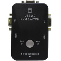 Chaveador Kvm Usb Controla 2micros 1mouse 1teclado 1 Monitor