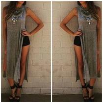 Blusa Vestido Super Fenda Lateral Look Blogueira 2 Pontas