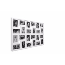 Quadro Painel Mural Porta Retrato Fotos 24 Fotos Cor Branco