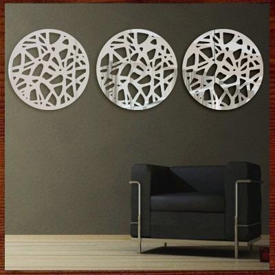029cbf65f Quadro Escultura Parede Espelho Personalizado Trio Mandalas - R  369 ...