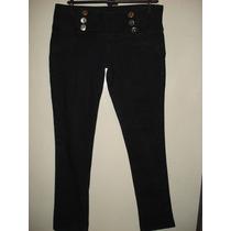 Calça Jeans Da Denim ( Fifty) C/ Bordados / Elastano Tam M