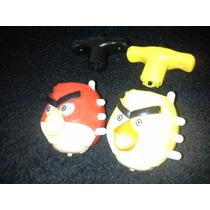 Pião Eletrônico Angry Birds - 1 Laser, 4 Leds, 1 Música