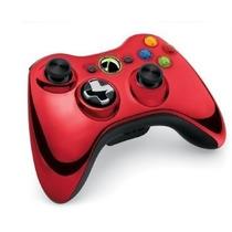 Controle Xbox 360 Chrome Series Vermelho - Novo- Original