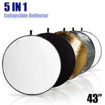 Rebotadores 110 Cm Reflectores 5 En 1 P/ Estudio Fotográfico