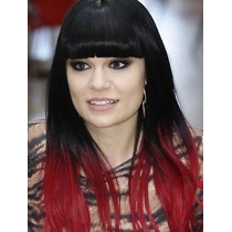 Aplique Tic Tac Preto Com Vermelho Red Ombre Hair Liso