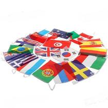 Bandeiras Nacionais 18 Peças Conjunto Completo