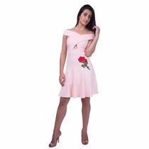 Vestido Feminino Linda Flor Rosa - Juni Fashion - 2231