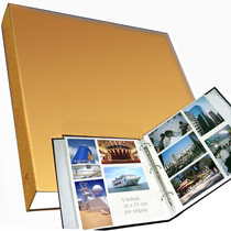 Álbum Jumbo, Sóbrio, 34x34cm P/ 500 Fotos 10x15 Cm - Luxo