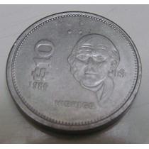 Moneda 10 Pesos Mexico 1986 Hidalgo