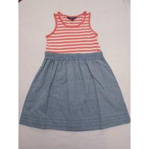 Vestido De Tirantes Para Niña Importado 4/6 Años