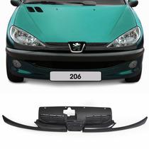 Grade Radiador Peugeot 206 1999 A 2011 Preta Com Moldura