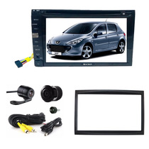 Kit Dvd Central Multimidia Peugeot 307 Bt + Moldura + Camera