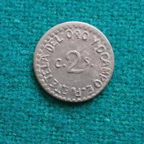 1915 2 Centavos Tetela De Ocampo Retroquelacion