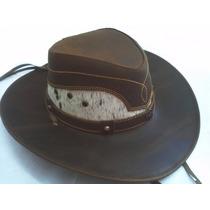 Sombrero De Piel De Res Color Café Combinado Pelo Mayoreo