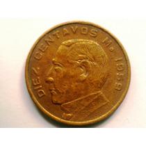 Diez Centavos De Cobre Moneda Mexicana 1959 $25.00