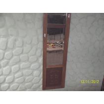 * Espejo Artesanal P/llaves Con Puerta Antigua De Ropero Ant