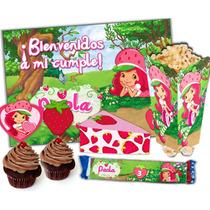 Kit Imprimible Frutillita Para Cumpleaños Super Candy Bar