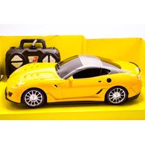 Carro Carrinho De Controle Remoto Lamborguini Amarela 1:18
