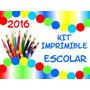 Kit Imprimible Etiquetas Rotuladores Y Caratulas Escolares