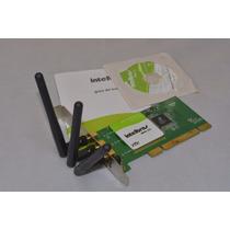 Placa Pci Wireless N Intelbras Wpn300 Wpn 300 - 3 Antenas