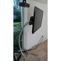 Remate Base Tv 32,42,55 Truss Curve Profesional Aluminio