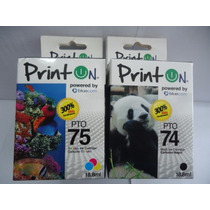 Combo Cartuchos 74xl Y 75xl 18,8 Ml Printon