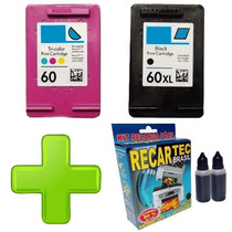 2 Cartuchos 60 Xl Preto + 60 Color Hp D110 F4280 F4480