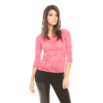 Sueter Ml Encaje Liso Rosado Saints Clothes