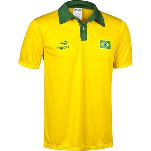 0c641ef2e803e Camisa Polo Topper Torcida Brasil Gg Preção!! - R  79