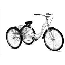 Bicicleta Triciclo Para Adulto Rodada 26 Con Canasta