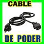 Lote De 5 Cables De Corriente , Cpu , Monitor , Gabinete