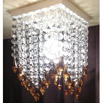 Lustre Cristal Para Sala De Jantar Cozinha Quarto -luminaria